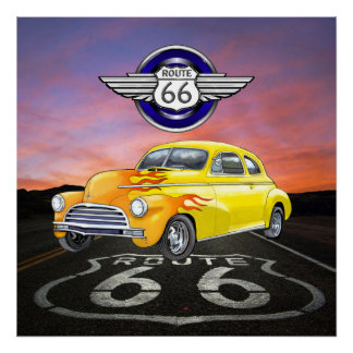 Route 66 - Vintage - Classic Car - SRF Posters