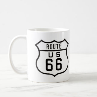 Route 66 Vintage Sign Classic White Coffee Mug