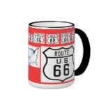 Route 66 Vintage Sign Gifts Ringer Mug