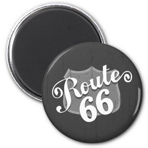 Route 66 Weatherboard 2 Inch Round Magnet