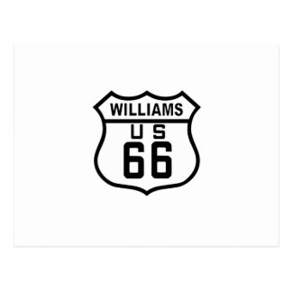 Route 66 Williams, Arizona Postcard