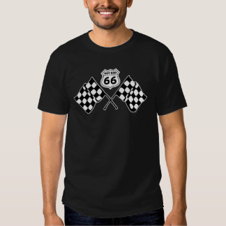 Route 66 With Flags Shirt