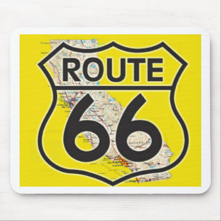 route 66 yellow gold California1 Mouse Pad