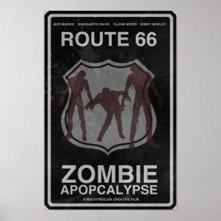 Route 66 Zombie Apopcalypse Poster