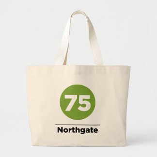 Route 75 Northgate Large Tote Bag