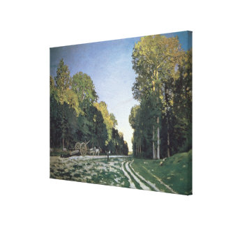 Route de Chailly, Fontainebleau, 1864 (oil on canv Stretched Canvas Print