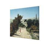 Route de la Gineste, near Marseilles, 1859 Stretched Canvas Print