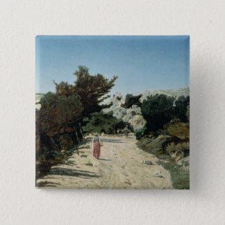 Route de la Gineste, near Marseilles, 1859 Pinback Button