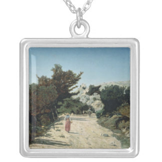 Route de la Gineste, near Marseilles, 1859 Silver Plated Necklace