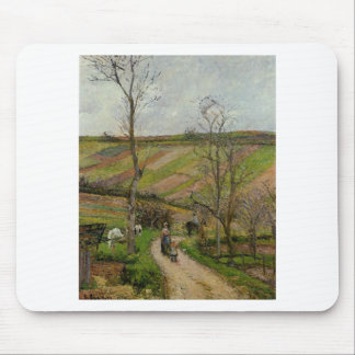 Route du Fond in Hermitage, Pontoise by Camille Mouse Pad