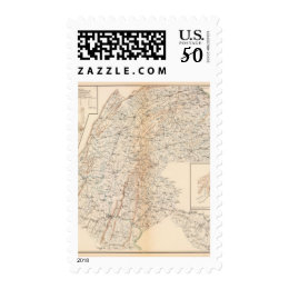 Route, Gettysburg campaign Postage