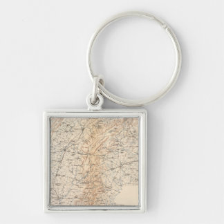 Route, Gettysburg campaign Silver-Colored Square Keychain