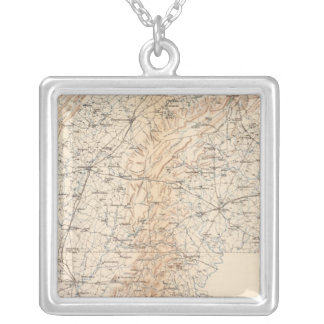 Route, Gettysburg campaign Silver Plated Necklace