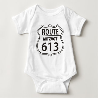 ROUTE MITZVOT 613 BABY BODYSUIT