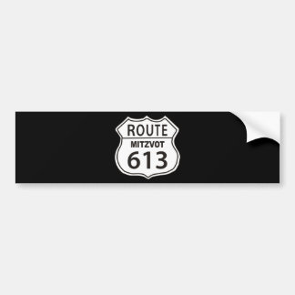 Route Mitzvot 613 Car Bumper Sticker
