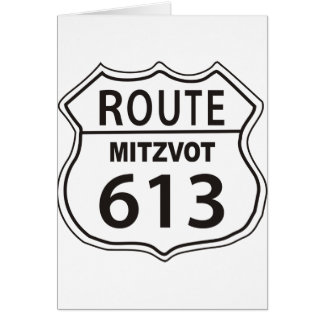 Route Mitzvot 613 Greeting Card