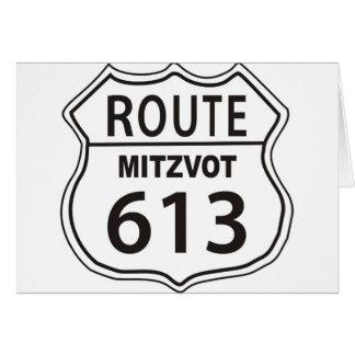 ROUTE MITZVOT 613 CARD