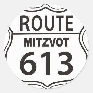 Route Mitzvot 613 Classic Round Sticker