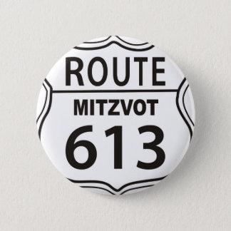 ROUTE MITZVOT 613 PINBACK BUTTON