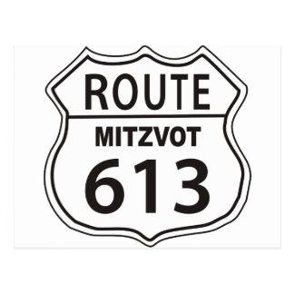 Route Mitzvot 613 Postcard