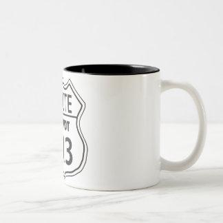 Route Mitzvot 613 Two-Tone Coffee Mug