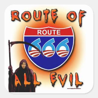 Route Of All Evil Square Sticker
