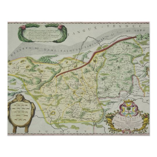 Route of Marco Polo Poster