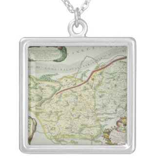 Route of Marco Polo Square Pendant Necklace