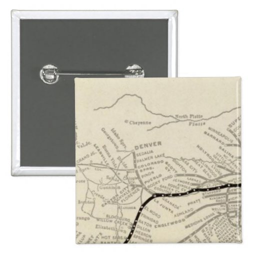 Route of the California Limited 2 Inch Square Button