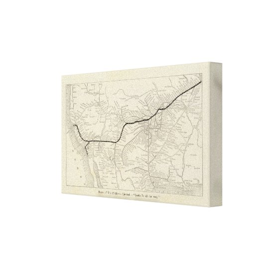 Route of the California Limited Canvas Print