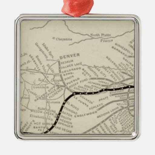 Route of the California Limited Ornament