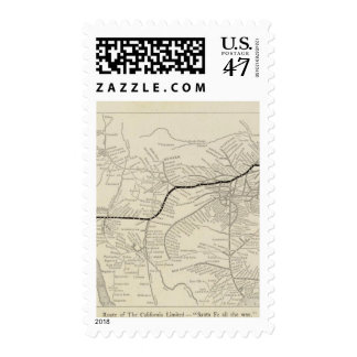 Route of the California Limited Postage