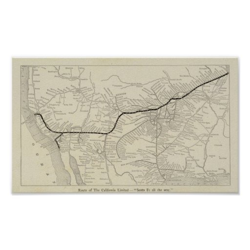 Route of the California Limited Print