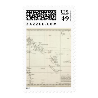 Route of the Spanish frigate la Princesa Stamps