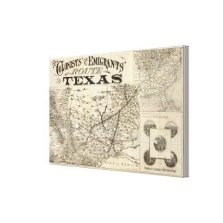 Route to Texas Canvas Print