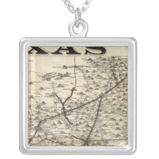 Route to Texas Silver Plated Necklace