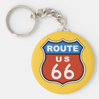 Route US 66 Sign Keychain