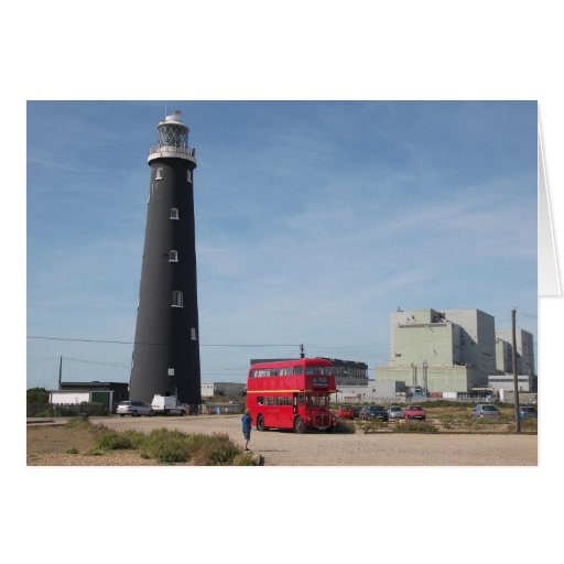 Routemaster at Dungeness Greeting Card