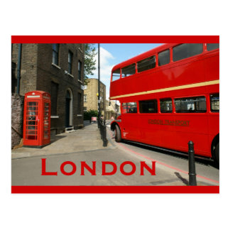 Routemaster Bus in Hackney, London Postcard