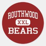 Routhwood - Bears - Middle - Newellton Louisiana Round Stickers