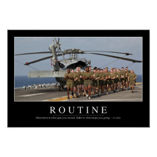 Routine: Inspirational Quote Poster