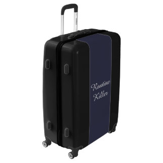 Routine Killer, Funny Typography Luggage Suitcase