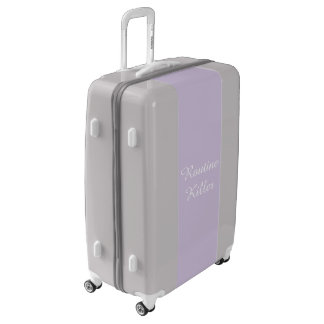 Routine Killer, Lilac Funny Typography Luggage