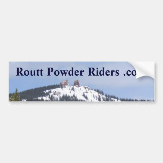 Routt Powder Riders bumper sticker Car Bumper Sticker