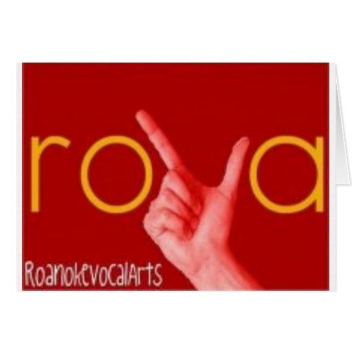 ROVA - Artes vocales de Roanoke Tarjeta De Felicitación