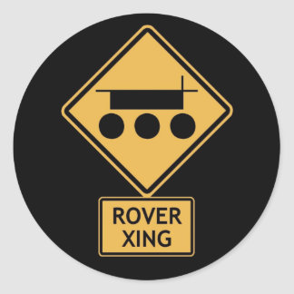 rover crossing classic round sticker