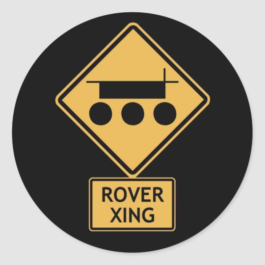 rover crossing classic round sticker