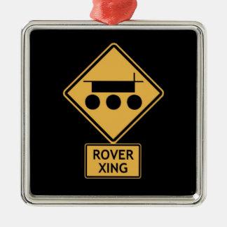 rover crossing metal ornament