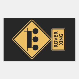 rover crossing rectangular sticker