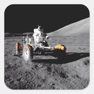 Rover lunar, Apolo 17 Pegatina Cuadradas Personalizada